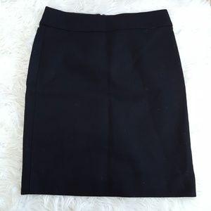 J. Crew black wool pencil skirt size 0